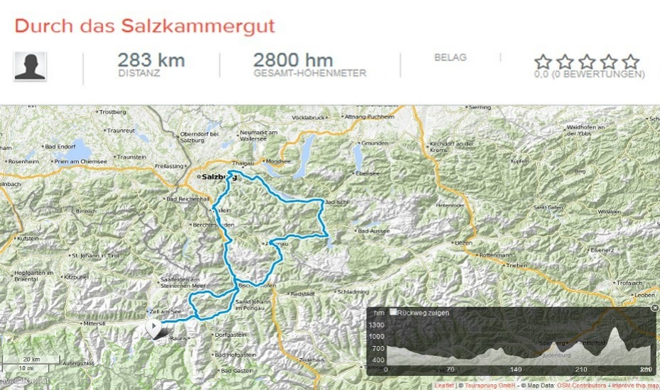 Motorcycle tour through the Salzkammergut
