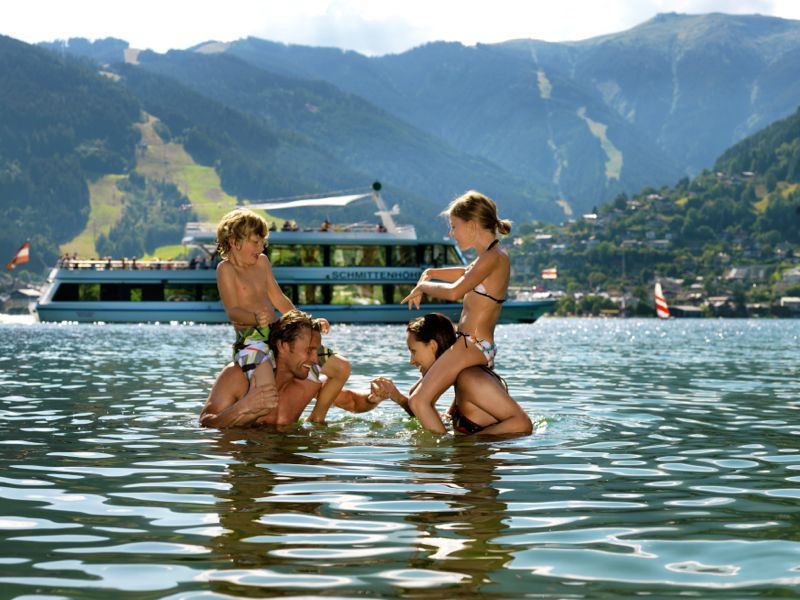Water fun at the lake Zell in the region Zell am See Kaprun