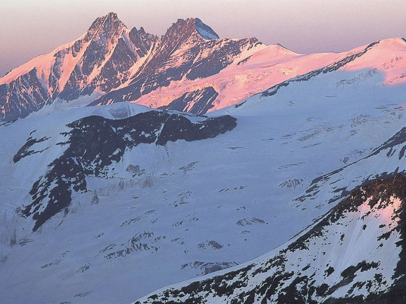 The summit of the Großglockner in morning light