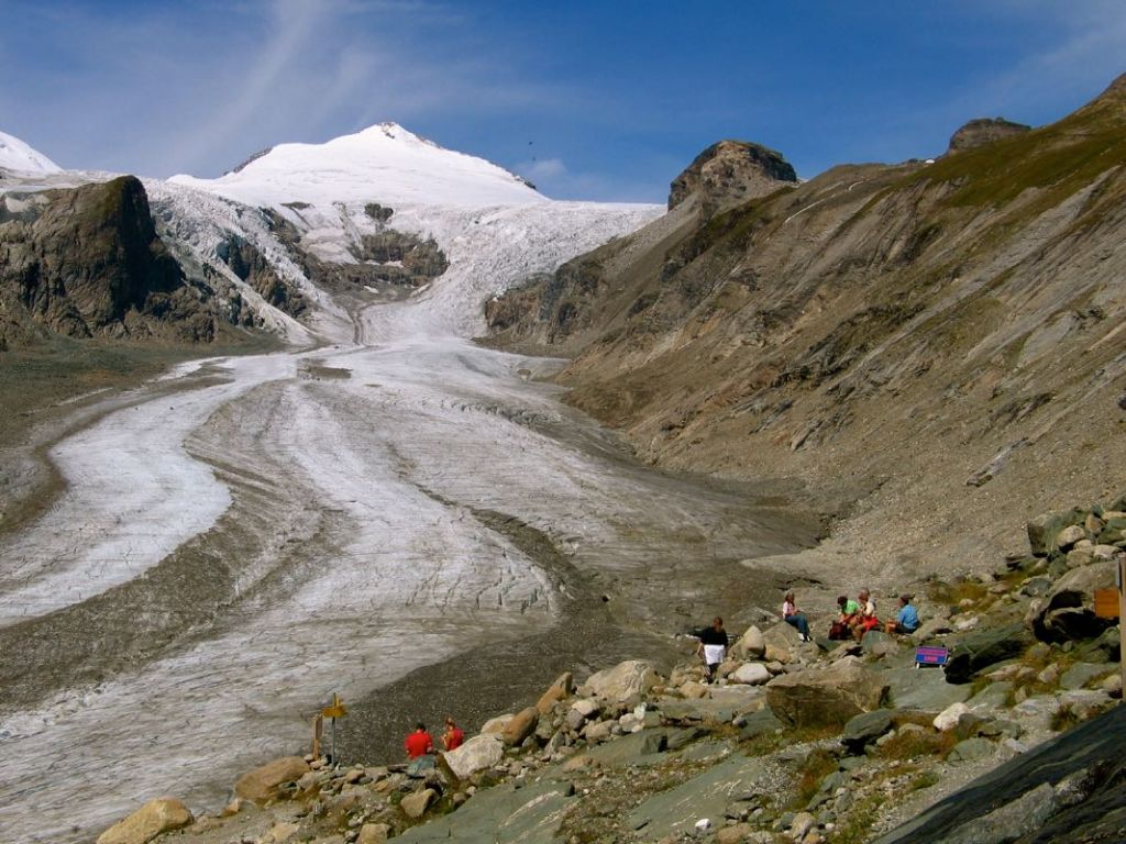 The Pasterzen-glacier at the Franz-Josef-Höhe