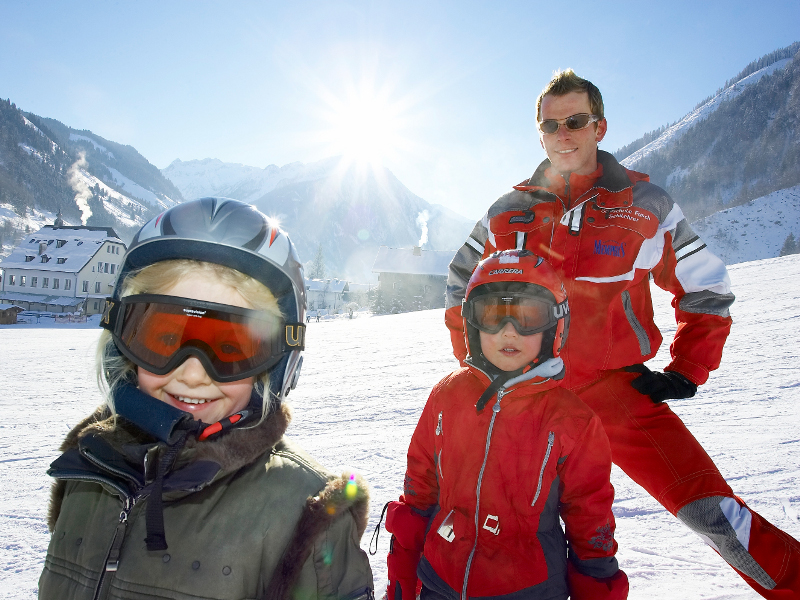 The ski school Fusch  is first class for beginners