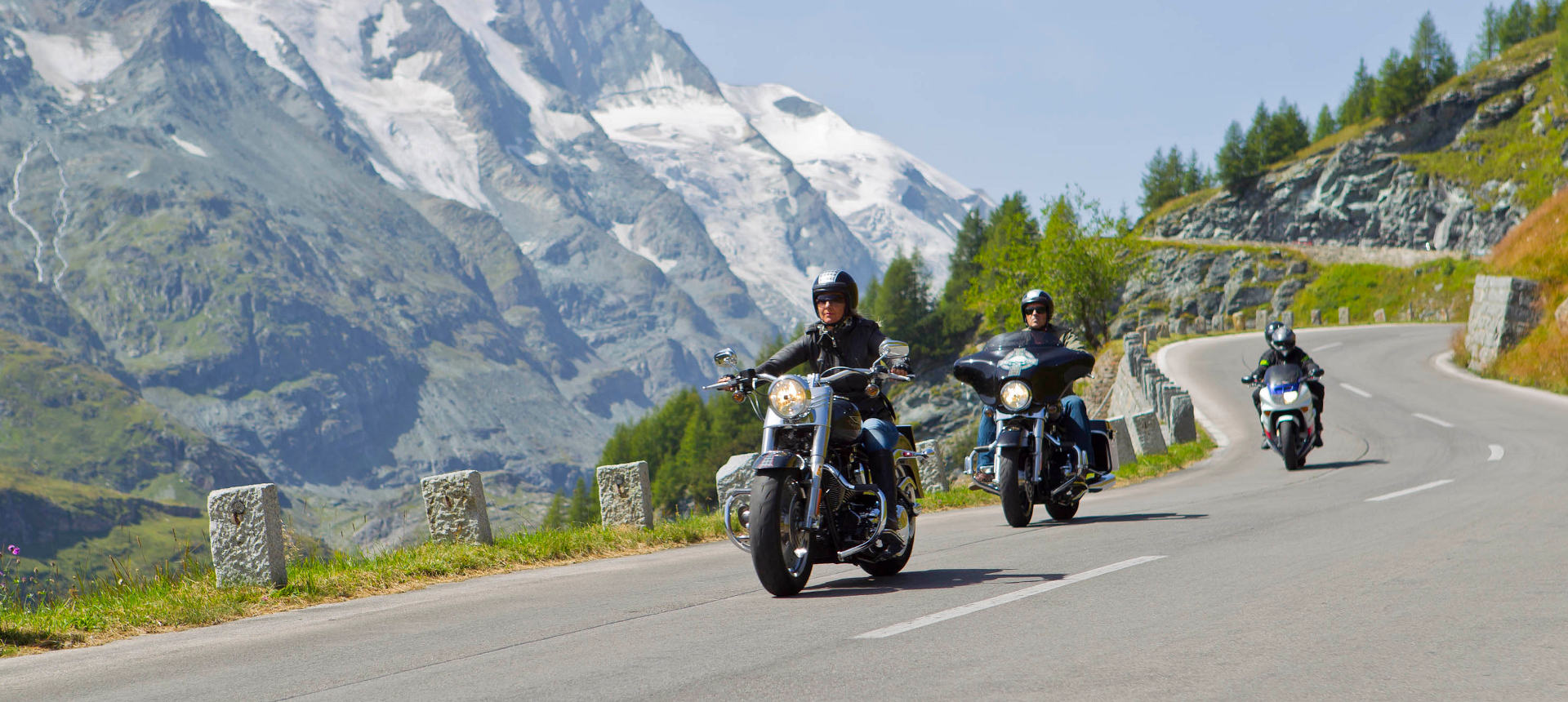 With the Harley on the Grossglockner High Alpine Road