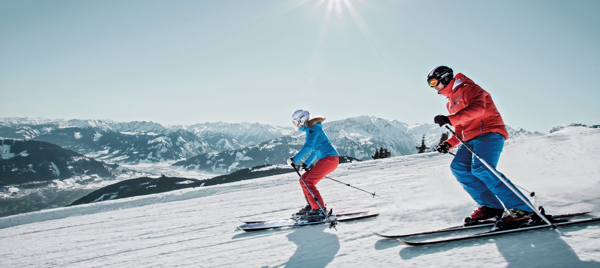 Always safe skiing with your ski instructor