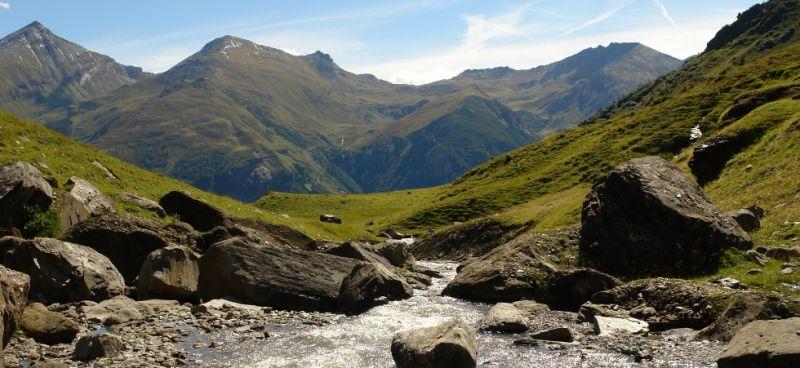 alpine pasture hiking