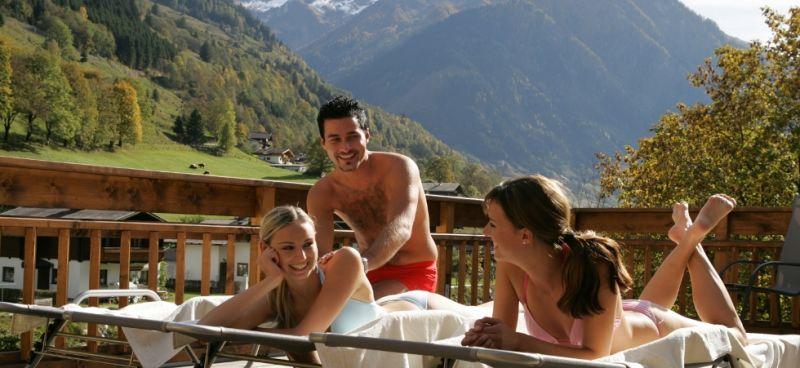 Sun terrace in the sauna area